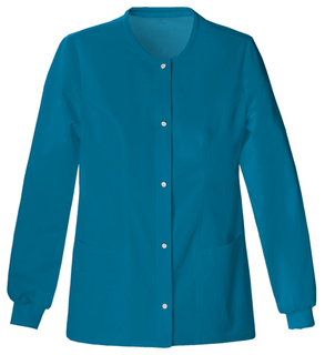 Cherokee Luxe 1330 Women's Snap Front Jacket-Cherokee Medical