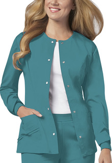 Luxe Ladies Snap Front Warm-Up Jacket - 1330-Cherokee Medical