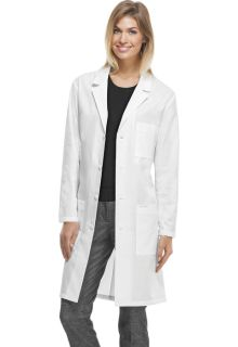 "Cherokee Proffesional White w/ Certainty Plus 40"" Unisex Lab Coat-Cherokee Medical"