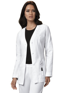 Button Front Embroidered Jacket-Cherokee Medical
