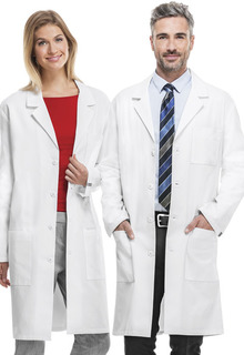"Cherokee Certainty Plus Antimicrobial w/ Fluid Barrier 40"" Unisex Lab Coat-Cherokee Medical"
