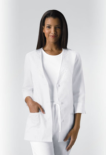Cherokee Medical Medical Professional Whites 3/4 Sleeve Embroidered Jacket-Cherokee Medical