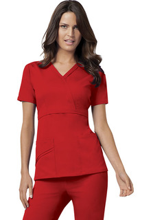 Luxe Empire Mock Wrap Top - 1841-Cherokee Medical