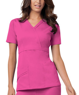 Mock Wrap Top-Cherokee Medical