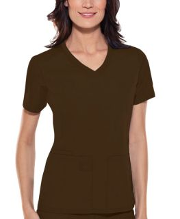 1909 V-Neck Knit Panel Top-Cherokee Medical