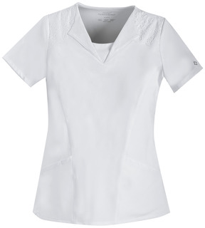 V-Neck Embroidred Top-Cherokee Medical