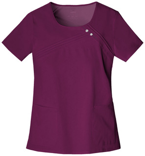 Round Neck Pin-Tuck Top-Cherokee Medical