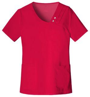 Crossover V-Neck Pin-Tuck Top-Cherokee Uniforms
