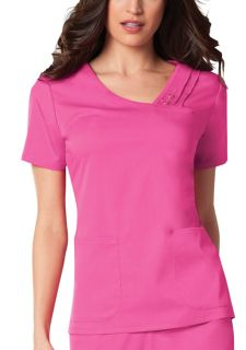 Crossover V-Neck Pin-Tuck Top-