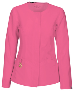 HeartSoul Head Over Heels Certainty Antimicrobial 'Warm My Heart' Button Front Scrub Jacket-Heartsoul