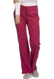 Low Rise Flare Leg Drawstring Cargo Pant-Cherokee Uniforms
