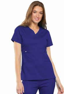 Empire Waist Mock Wrap Top-Cherokee Uniforms