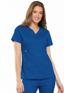 Luxe Empire Waist Mock Wrap Top - 21701-Cherokee Medical