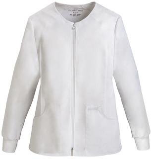 2306 Zip Front Knit Panel Warm-Up Jacket-Cherokee Medical