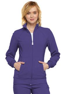 Infinity 2 Pocket Rib Knit Zip Front Warm-Up - 2391A-Cherokee Medical