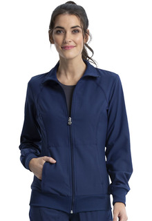 Infinity Zip Front Warm-Up - Antimicrobial-Cherokee Medical