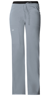 WW Core Ladies Low Rise Drawstring/Elastic Cargo Scrub Pants - Workwear 24001-Cherokee Workwear