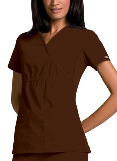 2500 Mock Wrap Knit Panel Top-
