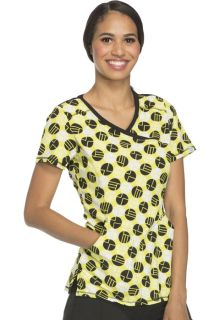 2628A Mock Wrap Top-Cherokee Medical