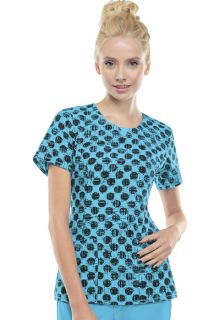 2629A Round Neck Top-Cherokee Medical