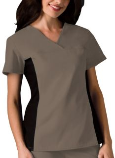 2874 V-Neck Knit Panel Top-Cherokee Medical