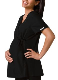 2892 Maternity Mock Wrap Knit Panel Top-