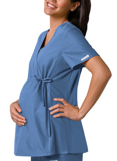 Maternity Mock Wrap Knit Panel Top-Cherokee Medical