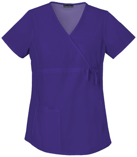 2892 Maternity Mock Wrap Knit Panel Top-Cherokee Medical