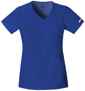 2992 Mock Wrap Knit Panel Top-Cherokee Medical