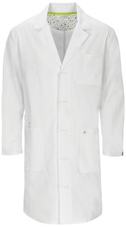 "Cherokee 38"" Unisex Lab Coat-Code Happy"