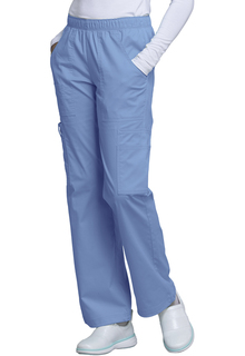 Core Double Cargo Mid Rise Elastic Waist Pant-Cherokee Workwear