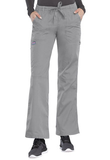 Workwear Ladies Low Rise Drawstring/Elastic Cargo Scrub Pants - Originals 4020-Cherokee Workwear