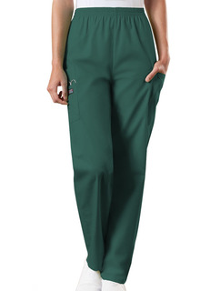 Cherokee Workwear Natural Rise Tapered LPull-On Cargo Scrub Pant