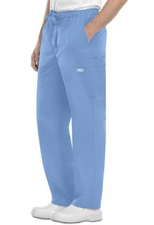 Cherokee WorkWear Core Stretch Men's Drawstring Cargo Scrub Pants-4243-Cherokee Workwear