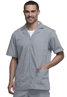 Originals Men's Short Sleeve Zip Front Scrub Jacket with Lapel Collar - 4300-Cherokee Workwear