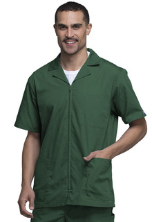 Cherokee Workwear Men's Zip Front Scrub Jacket-Cherokee Workwear