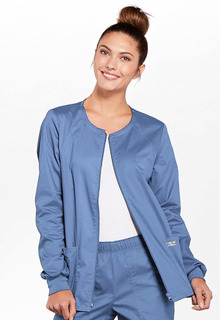 WW Core Zip Front Ladies Crew Neck Warm-Up Jacket - Workwer 4315