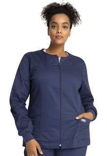 WW Core Zip Front Ladies Crew Neck Warm-Up Jacket - Workwer 4315-