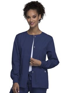 "Workwear 27.5"" Snap Front Ladies Warm-Up Jacket - 4350"