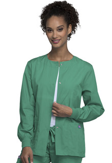 Snap Front Warm-Up Jacket-Cherokee Workwear