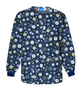 Scrub HQ Women's Snap Front Warm-Up Print Jacket-Scrub HQ