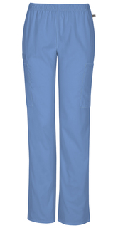 DEAL - Flex Ladies Elastic Waist Cargo Scrub Pants - Certainty 44200A-Cherokee Workwear