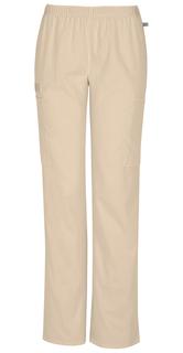 Mid Rise Straight Leg Elastic Waist Pant-Cherokee Workwear