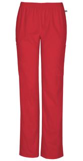 Mid Rise Straight Leg Elastic Waist Pant-