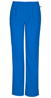 44200A Mid Rise Straight Leg Elastic Waist Pant with Flex - Cherokee Workwear