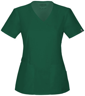 Cherokee Workwear Mock Wrap Scrub Top-Cherokee Workwear