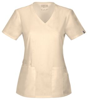 44801A Mock Wrap Top-Cherokee Workwear