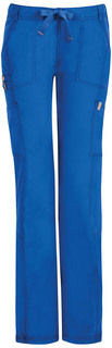 DEAL - Bliss Low Rise Straight Leg Drawstring Pant - Antimicrobial w/Fluid Barrier-Code Happy