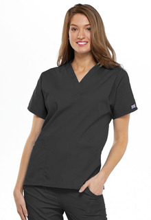 4700 V-Neck Top-Cherokee Workwear
