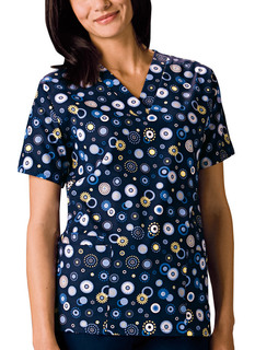 Scrub HQ Women's V-Neck Print Top-Scrubs HQ